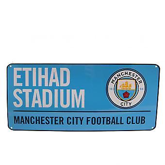 Manchester City FC gatu skylt