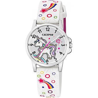 Calypso watch kellot K5776-4 - katsella silikoni valkoinen