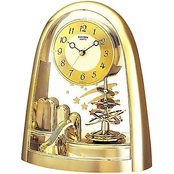Widdop Bingham Arched Gold Tone Spiral Pendulum Mantel Clock With Shooting Star Detail