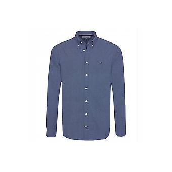 Tommy Hilfiger Men's Tommy Hilfiger Mens Blue Heather Dot Print Shirt