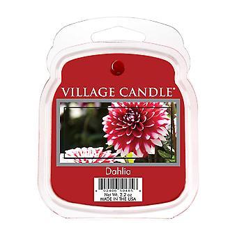 Village Candle Wax smelte pakker til brug med melt tart & oliebrændere 6 chunks Dahlia