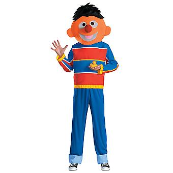 Ernie Sesame Street Orange Muppet Children TV Shows Teen Boys Mens Costume M