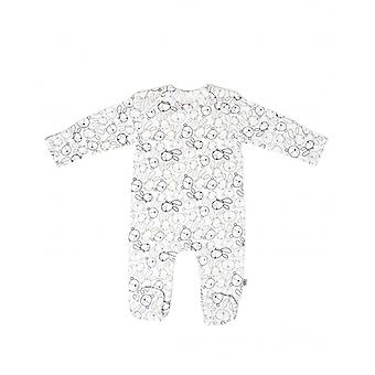 Bunny & Bear Baskı ile Essential One Unisex Bebek Sleepsuit