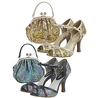 Ruby shoo kvinder ' s Eliza peeptoe lejlighed sandaler & matchende Arco taske
