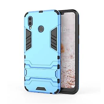 HATOLY iPhone XS Max - Robotic Armor Case Cover Cas TPU Case Blue + Kickstand