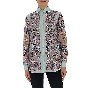 Etro 1355095970250 Women's Multicolor Silk Shirt