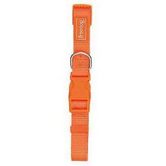 Freedog Basic Orange Nylon Collar 10mm (Dogs , Collars, Leads and Harnesses , Collars)
