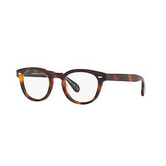 Oliver Peoples Sheldrake OV5036 1552 Semi Matte Dark Mahogany Glasses