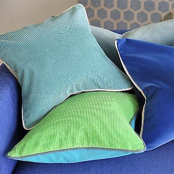 Designers Guild Corda Cushion In Apple Green