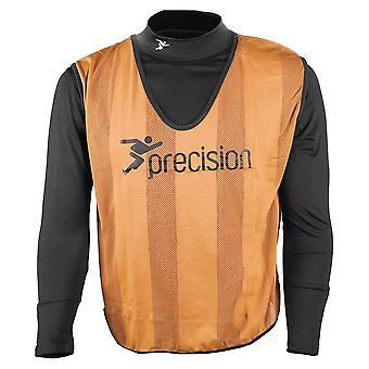 Precision Striped Mesh Football Soccer Training Bib Orange