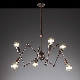 WOFI Carmona Contemporâneo 6 Pingente de teto Sputnik leve em marrom antigo 6445.06.09.8000