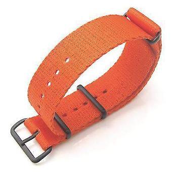 Strapcode n.a.t.o horlogeband miltat 21mm g10 horlogeband ballistische nylon school kijken armband - oranje, pvd hardware