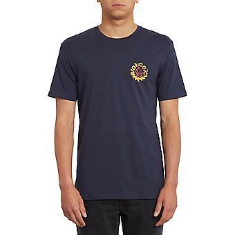 Volcom Throttle Korte Mouw T-shirt in Navy