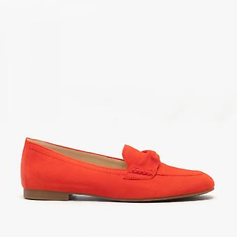 Gabor Villa Ladies Leather Loafers Coral