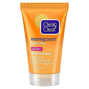 Clean & clear morning burst facial scrub with bursting beads, 1 oz x 12 ea
