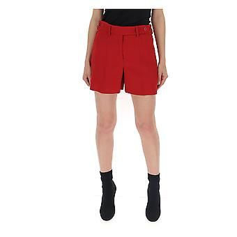 Red Valentino Sr3rfb202eud05 Women's Red Viscose Shorts