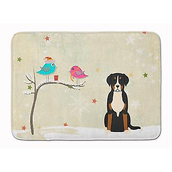 Christmas Presents between Friends Greater Swiss Mountain Dog Machine Washable M