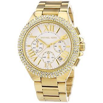 Michael Kors Chronograph Quarz Damen Uhr mit Edelstahlband MK5756
