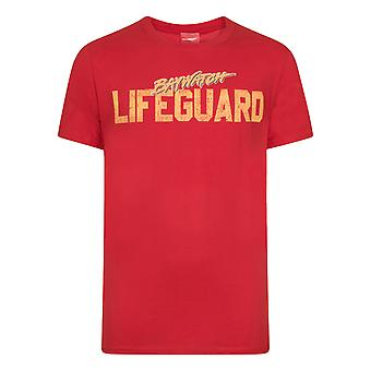 Baywatch Official Gift Mens Classic Logo Lifeguard T-Shirt