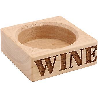 Loft drevený držiak na fľašu vína-vyrezávané drevo-moderný blok Design