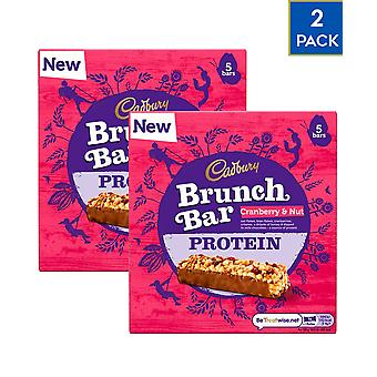 2 x 5 Cadbury Cranberry Fruit Nut Protein Veggie Bars Natural Fibre Snack Food