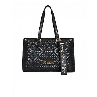 Love Moschino Accessories Quilted Logo Shopper Bag