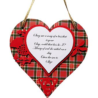 Lilypond Crafts et Gifts Skye Boat Song Heart Plaque