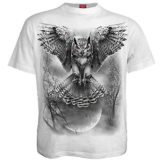 Spiral Direct Gothic WINGS OF WISDOM - T-Shirt White|Owl|Fashion|Moon|Forest
