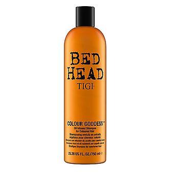 Tigi Bed Head Colour Goddess Oil Infused Shampoo 750ml for Colour Treated Hair