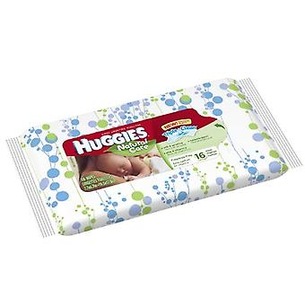 Huggies natural care baby wipes, fragrance free, 16 ea