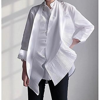 Casual Pleated Assymetric Blouses