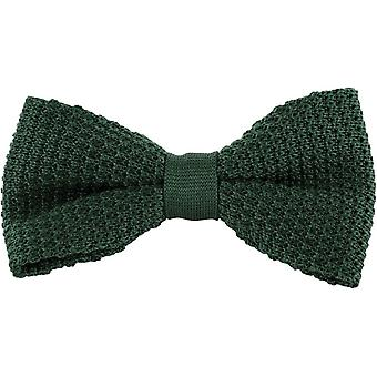 Michelsons of London Silk Knitted Bow Tie - Green