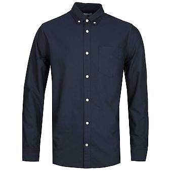 NN07 Levon 5142 Button Down Navy Long Sleeve Shirt
