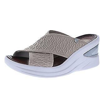 BZees Womens Vista Fabric Open Toe Casual Slide Sandals