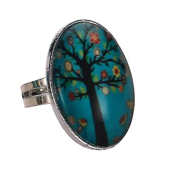 Tree of Life Adjustable Fashion Ring