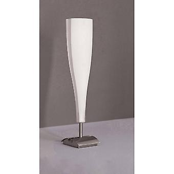 Java Big Table Lamp 1 E14 Bulb, Satin Nickel / Frosted White Glass