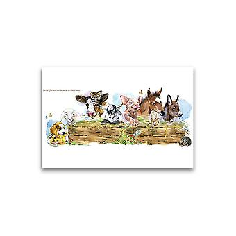 Maleri stil søte husdyr plakat -Bilde av Shutterstock