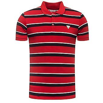 Devinez | T-shirt Polo à rayures Kemp Slim Fit