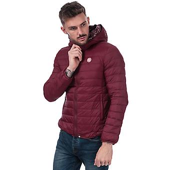 Men's Pretty Green Barker Lightweight Quilted Jacket in Red
