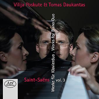 Saens / Poskute / Daukantas - Works for Piano Duo 3 [SACD] USA import