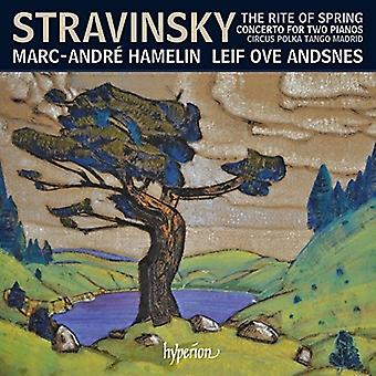 Stravinsky / Hamelin, Marc-Andre - Rite of Spring & Other Works for Two Pianos Four [CD] USA import
