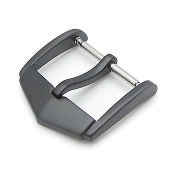 Strapcode katsella solki tag tyyli 18mm tai 20mm laadukkaita ruostumaton teräs 316l jousitanko tyyppi solki, pvd musta viimeistely
