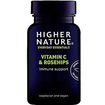 Higher Nature Vitamin C & Rose Hips Vegan Tabs 90 (RC1090)