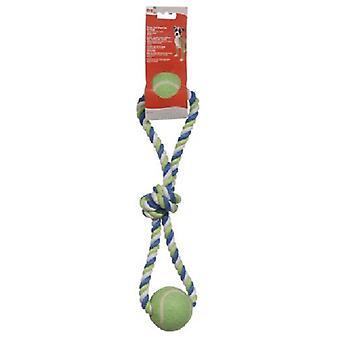Hagen DOGIT CUERDA  AZUL/LIMA/BLAN NUDO Y 2 PELOTAS (Dogs , Toys & Sport , Ropes)