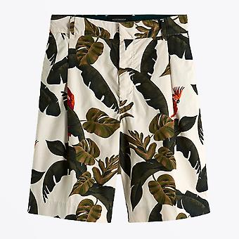 Scotch & Soda  - Jungle Print Shorts - Beige/Multi