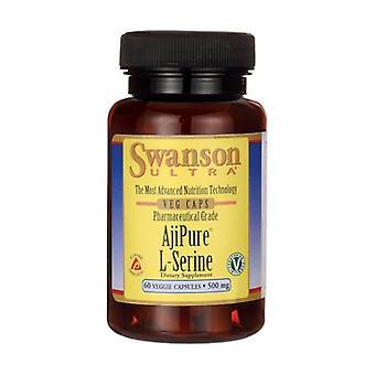 AjiPure L-Serine, 500mg 60 vegetable capsules