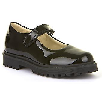 Froddo Girls G3140114-1 School Shoes Black Patent Leather