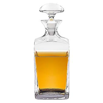 Mouth Blown Crystal European Made Scotch or Whiskey Decanter 34 oz.