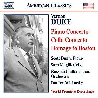 Vernon Duke - Vernon Duke: Piano Concerto; Cello Concerto; Homage to Boston [CD] USA import