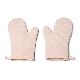 Kitchen heat-resistant oven gloves, baking, grilling, microwave cooking, heat insulation and scalding